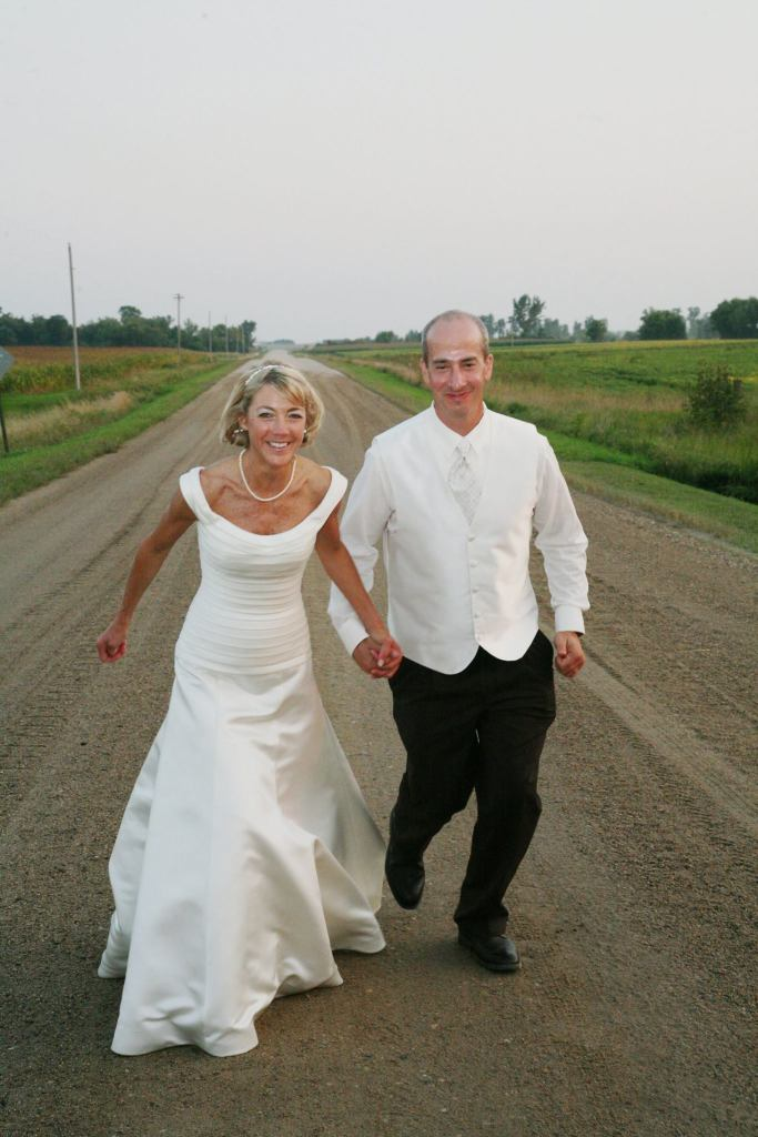 Running on our wedding day