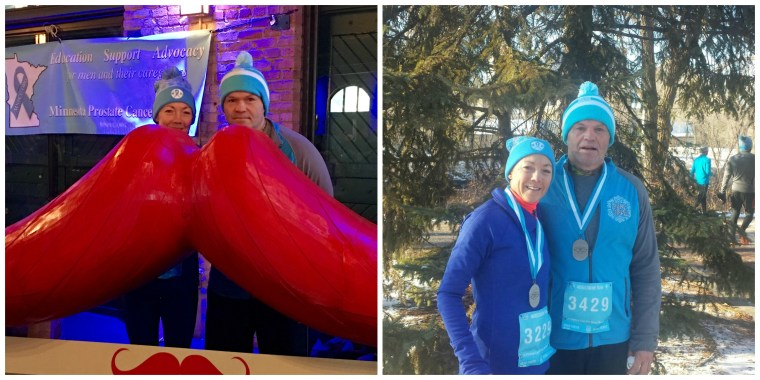 Me and my Bro before and after our 10K Thanksgiving weekend