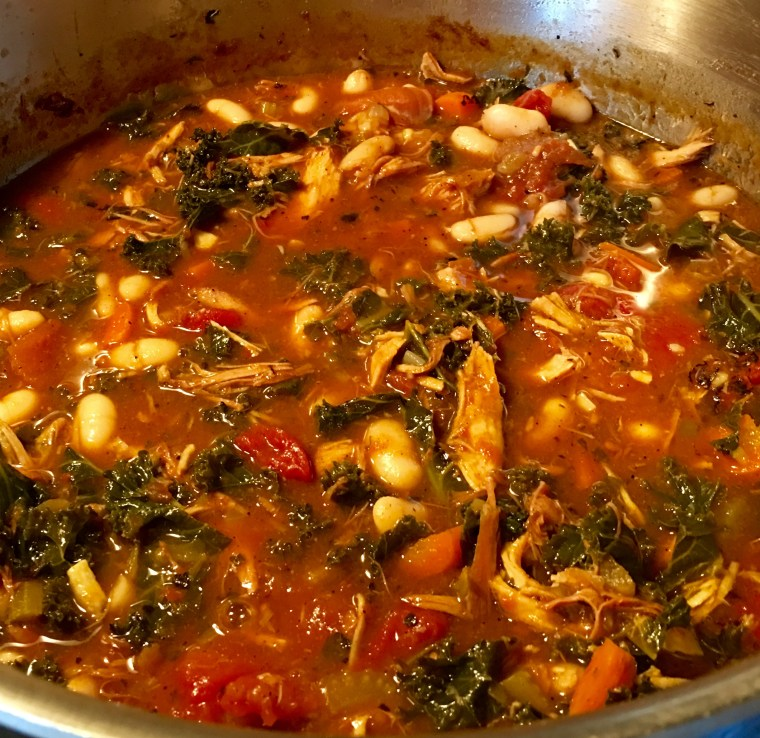 Left-Over Turkey Chili with White Beans & Kale