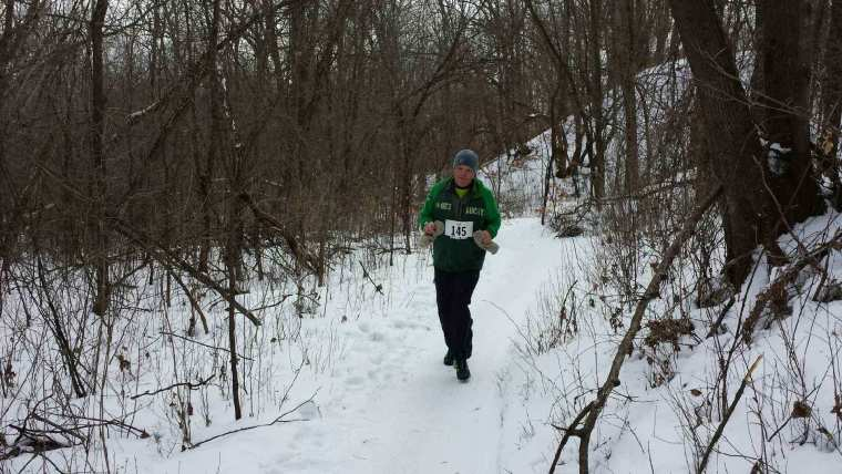 My Brother Aaron finishing Frozen Feet 10K