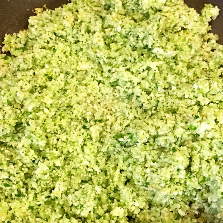 Cilantro, Onion, Jalapeno & Lime Cauliflower rice