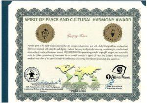 Prix de la Paix et de la Culture de l'Harmonie - PDF à consulter