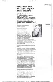Isabelle Arpaia Avocat Fiscaliste - LE PARISIEN 2