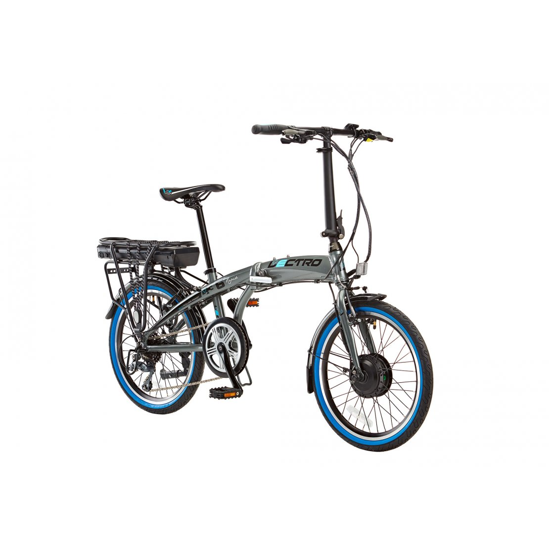 13 Rapide 8 Speed 36v E Bike 20 Wheel Grey Le002