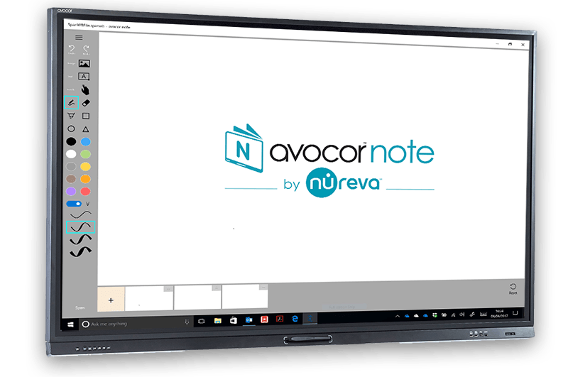 Avocor Note on an interactive touch screen