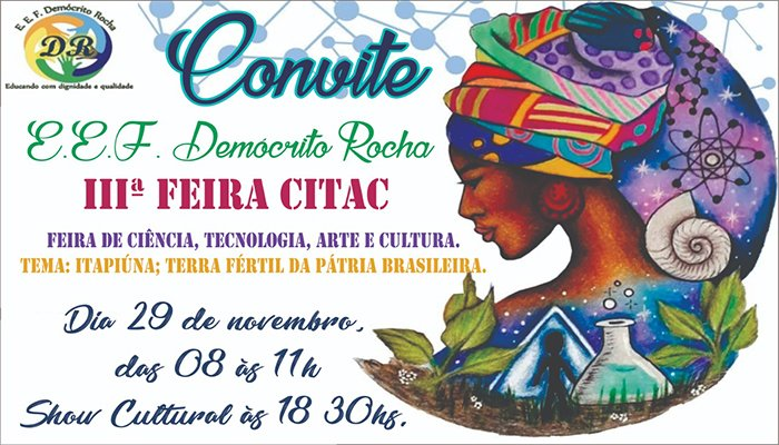 Escola Demócrito Rocha realizará III Feira Citac em Itapiúna