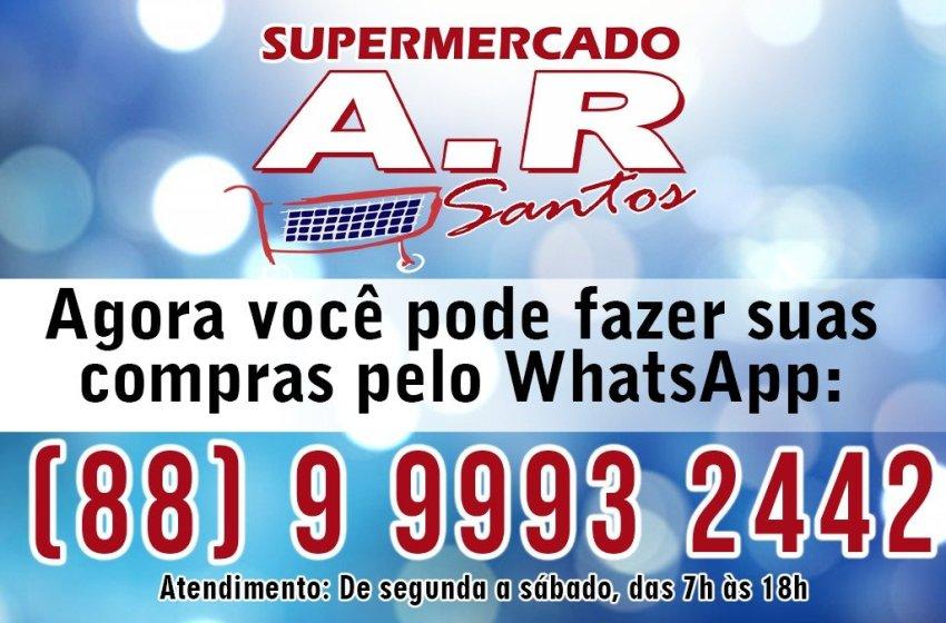 Itapiúna: Supermercado A.R Santos lança atendimento via WhatsApp