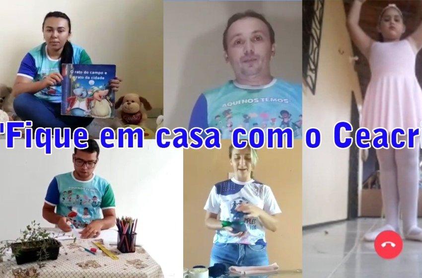 """OSC Ceacri de Itapiúna produz série de vídeos intitulada """"Fique em casa com o Ceacri"""""""