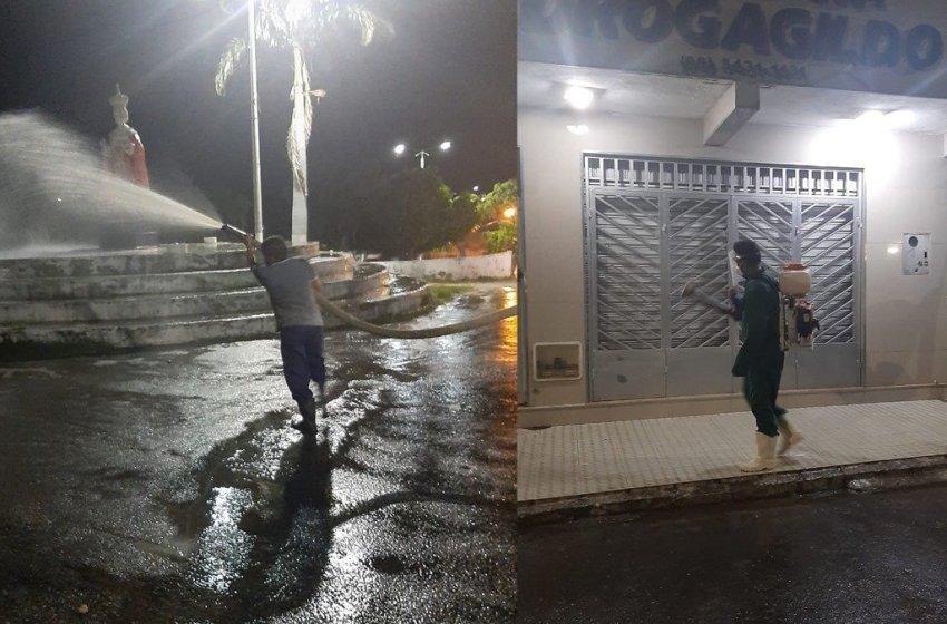 Prefeitura de Itapiúna divulga programação de desinfecção das ruas de maior aglomeração