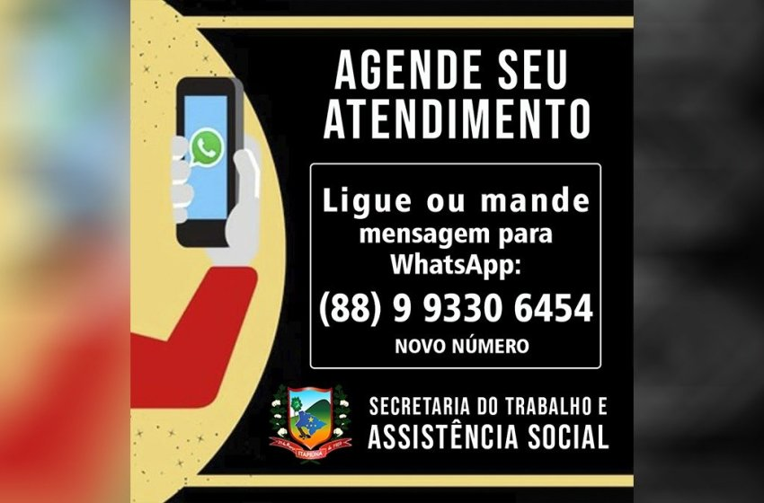 SETAS de Itapiúna divulga novo número para agendamento de atendimentos