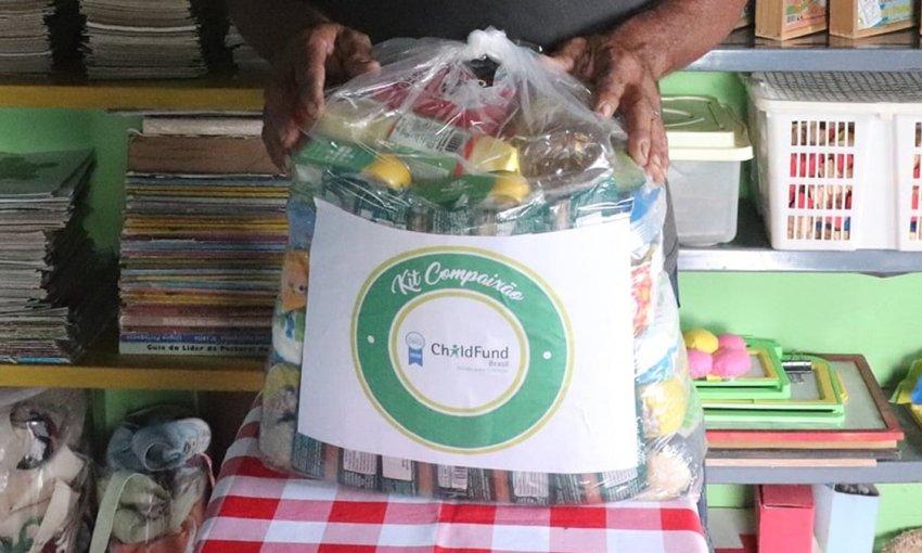 """975 famílias foram beneficiadas com a entrega de cestas da 9ª Etapa da Campanha """"Nem Vírus, Nem Fome: Compaixão"""" em Itapiúna e região"""