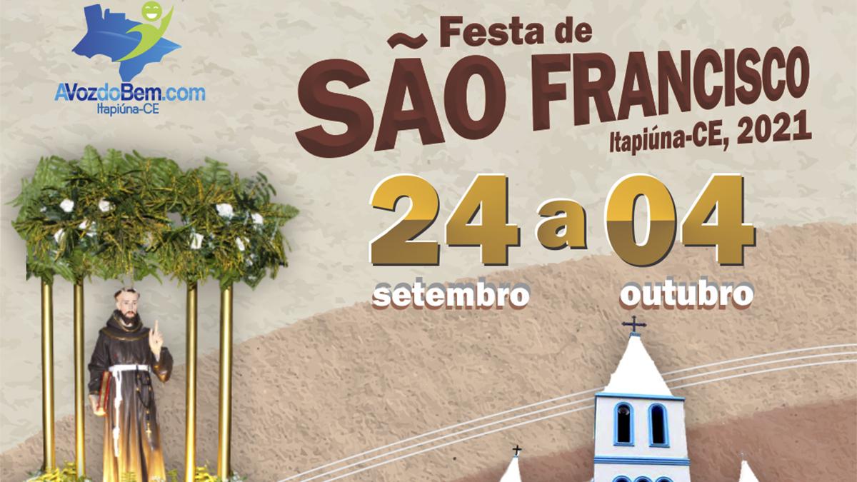 Paróquia de Itapiúna divulga programação da Festa de São Francisco 2021