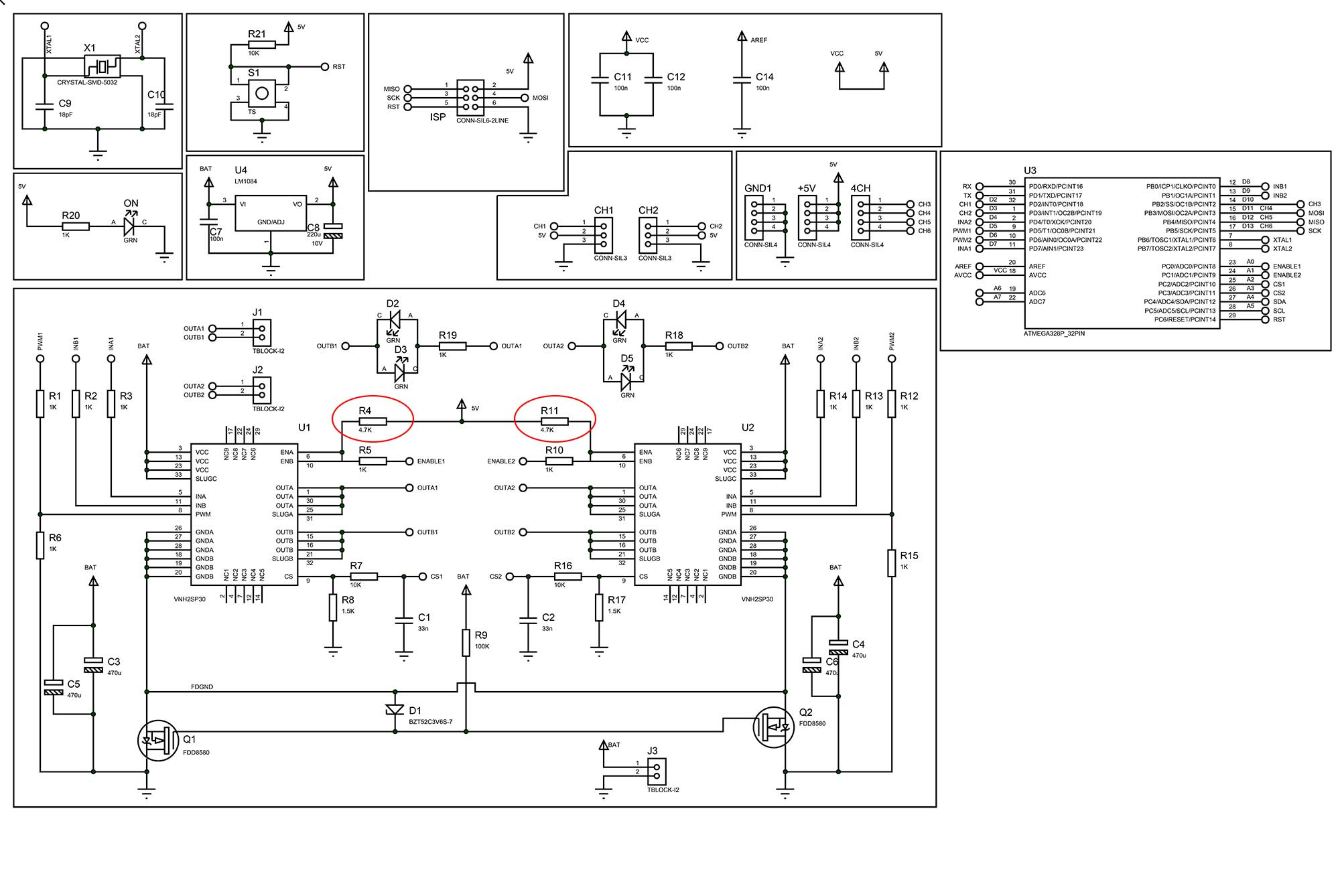 Vhn2sp30 Motor Control Works Only When Controller Is