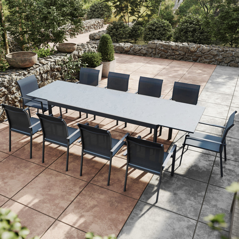 table extensible gris anthracite