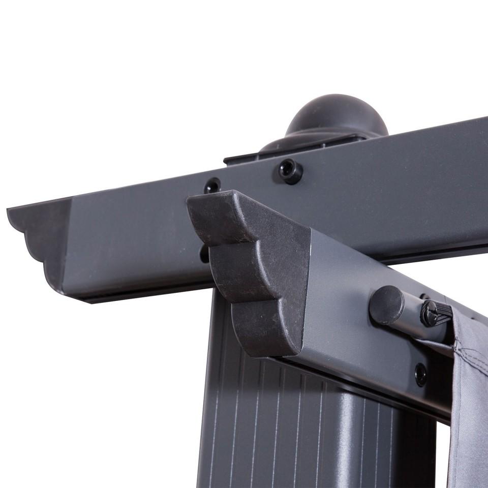 tonnelle pergola aluminium 3x4m toile