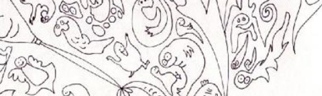 closeup of creatures doodled by me