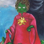 My version of the elizabeth I ditchley portrait, only with a space alien instead of a queen.