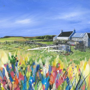 Shetland Croft House painting Bressay Avril Thomson Smith