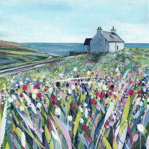 Shetland Croft House painting Cunningsburgh Avril Thomson Smith