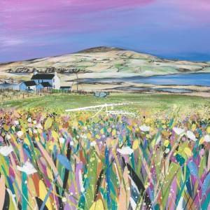 Shetland Croft House painting Spiggie Loch Avril Thomson Smith