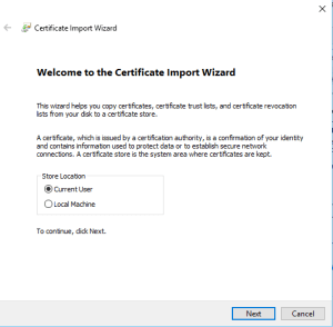 Certificate Install 1