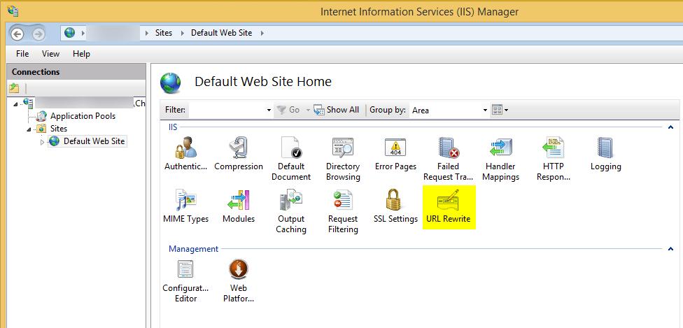 Change URL Rewrite