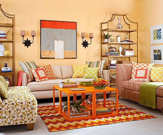 Living Room Wall Colors Sofa Brown
