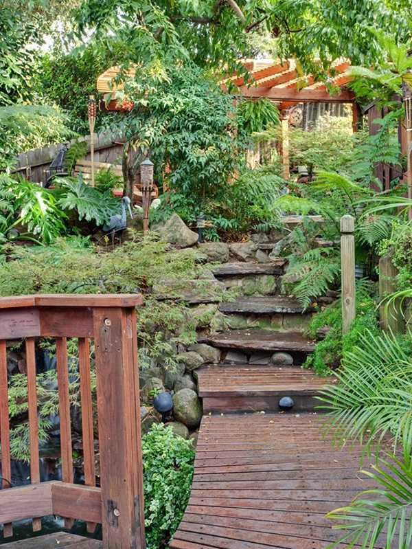 Landscaping - 15 ideas for tropical retreat in your garden ... on Tropical Small Backyard Ideas id=87045