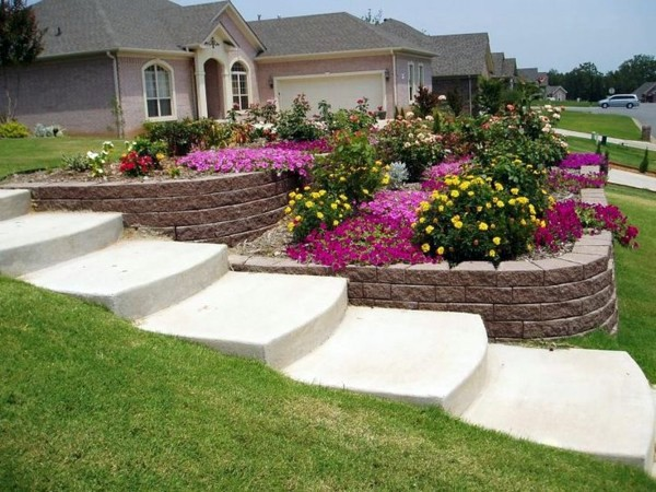 Landscaping on a slope - How to make a beautiful hillside ... on Backyard With Slope Ideas  id=68725
