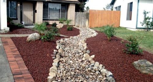 Front garden design with gravel - you want to give a ... on Backyard Pebbles Design id=89452