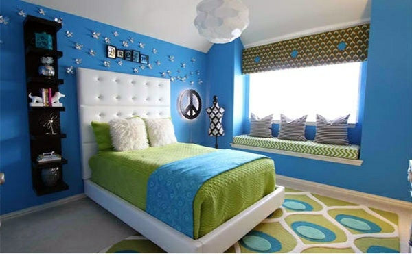 Bedroom Colors Ideas Blue And Bright Lime Green Interior Design Ideas Avso Org