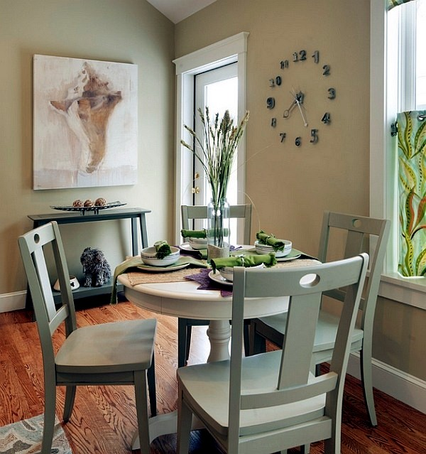 For example, linking navy blue walls in the dining room end with the same wall color in the living room for a space that feels united and cozy. 50 decorating ideas for small dining room | Interior ...