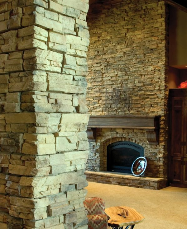 Cheap Wall Covering With Artificial Stone Interior