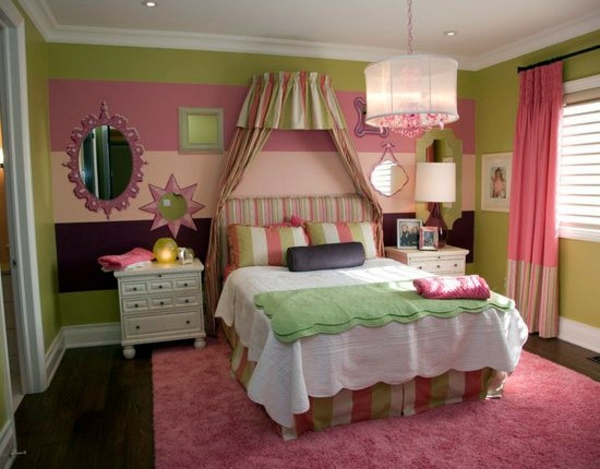 Trendy original wall design in the youth room   Interior ... on Trendy Teenage Room Decor  id=97347