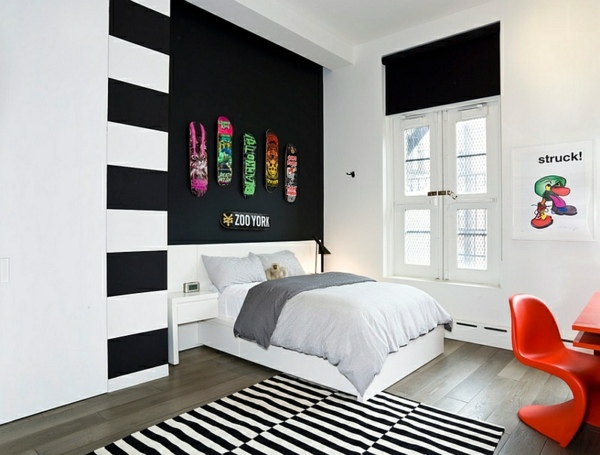 Bold Bedroom Color Ideas With Black And White Accents Interior. Black And White Bedroom Ideas With Accent Color   Bedroom Style Ideas