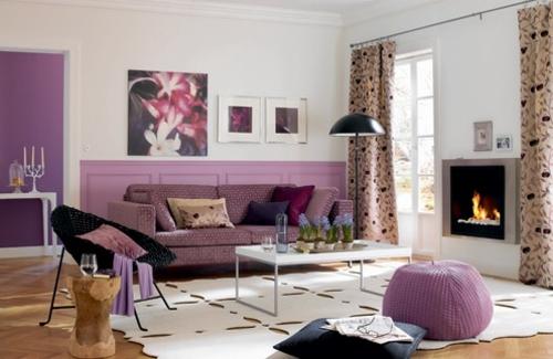 Stylish Purple Living Room Interior Interior Design Ideas Avso Org