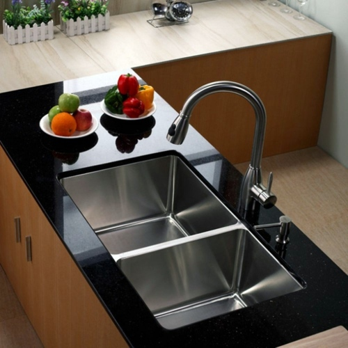 material of the sink in the kitchen