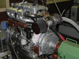 Motor Steyr M1, 4 valji, 2150 cm3, 60 do 130 kW, 3.800-4.400/min – na preskusni zavori (Foto: Aci Bizjan)