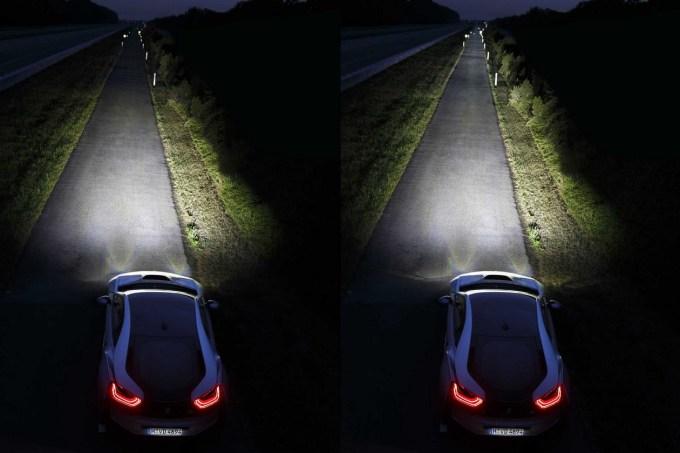 Laserski snop v BMW-ju i8 ima s 600 metri enkrat večji doseg kot dolgi snop žarometa LED.