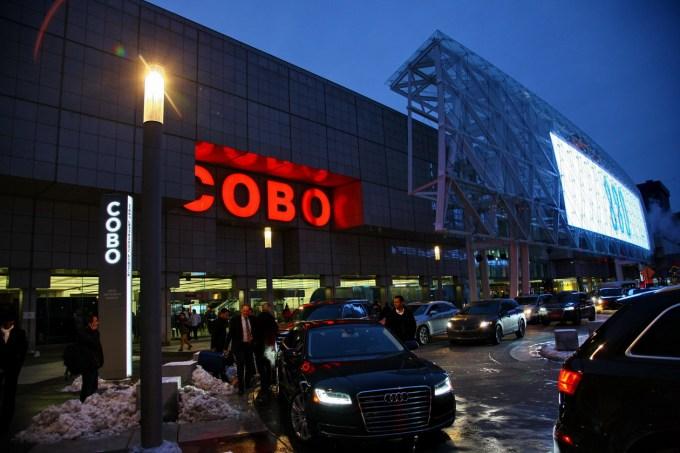 Razstaviščni center Cobo: sodoben, obiskovalcu prijazen in lani znova prenovljen ima dobrih 67 tisoč kvadratnih metrov razstavnih površin.