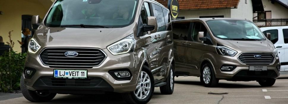 Ford Transit in Tourneo Custom: prenovljena na slovenskem trgu