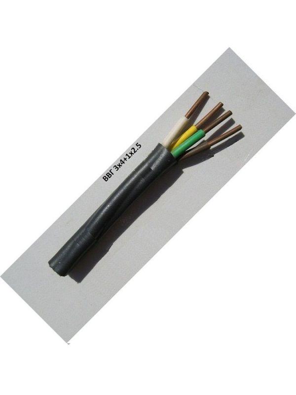 ВВГ 3х4+1х2.5 кабель медный силовой