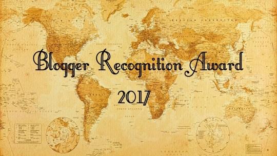 Blogger Recognition Award 2017