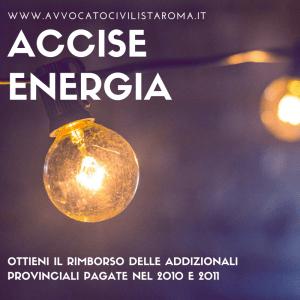 avvocato accise energia elettrica