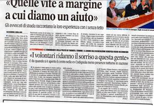 """03.02.13 Gazzetta del Mezzogiorno. Avvocato di strada: """"Quelle vite a margine a cui diamo aiuto"""""""