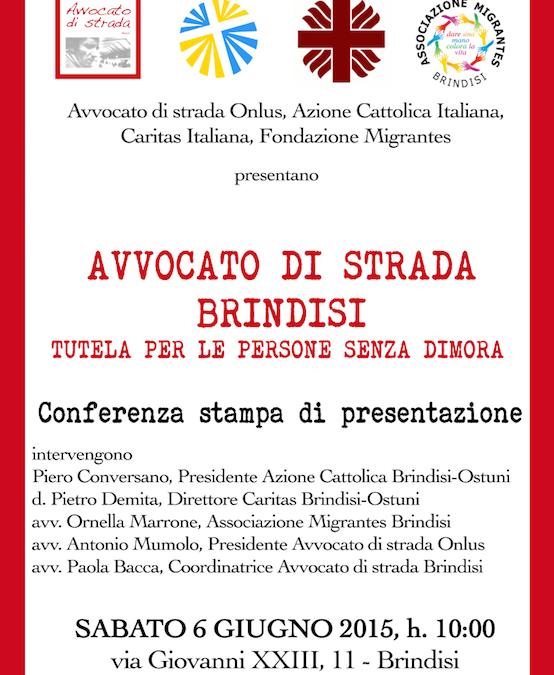 Inaugurazione Avvocato di strada Brindisi