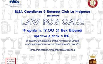 "14.04.16 Castellanza, ""Law for care"". Aperitivo di raccolta fondi per Avvocato di strada"