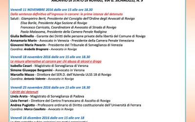 A Rovigo un ciclo di incontri sull'esecuzione penale nei suoi aspetti pratici