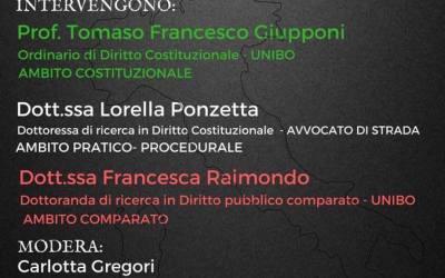 """12.10.17 Bologna, """"Cittadinanza: profili giuridici e costituzionali"""""""