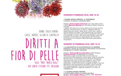 Diritti a fior di pelle. A Bologna due incontri sulle donne senza dimora